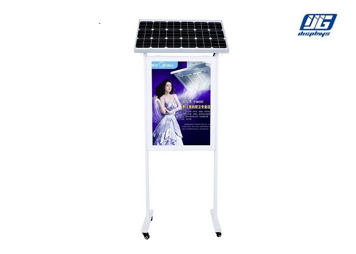 Double Pole Solar Powered Light Box Garbage Bin Advertising Two Sided Poster Display