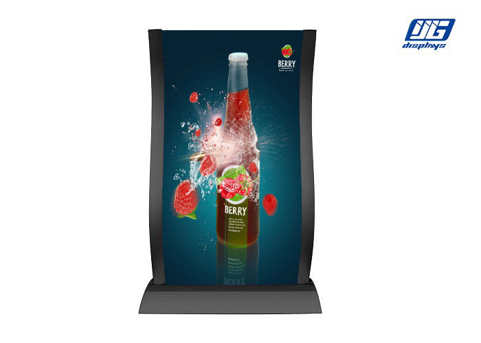 Arc Dual Sided Poster Display Stands With Clear PS Lens / Iron Base