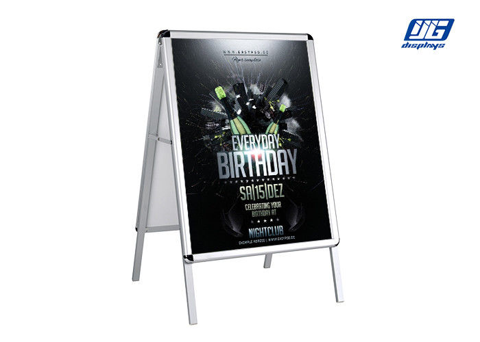 Double Side Illumination Sign Holder With Silver Snap Frame Round Corner