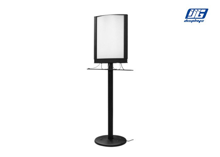 Black Floor Stand Commercial Phone Charging Station With Illumination Frame