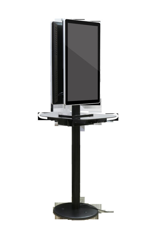Black Commercial Phone Charging Station Double Sided Advertising Board Display